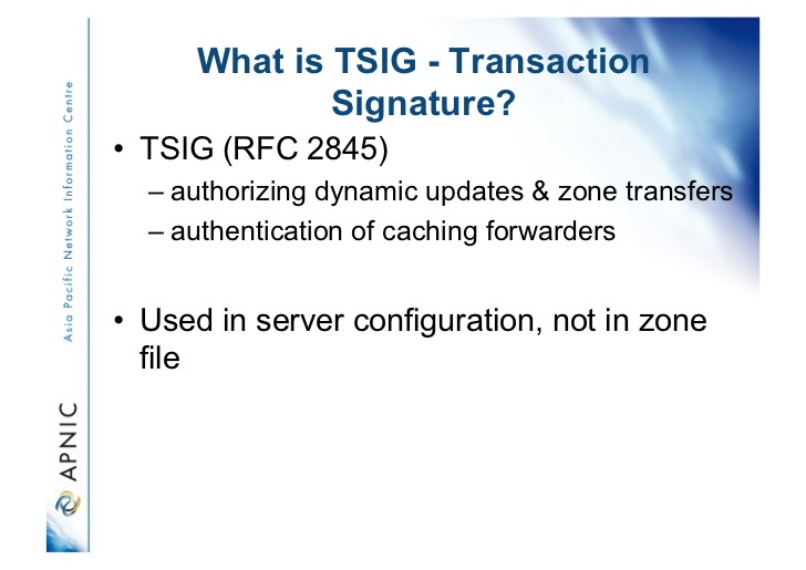 What is TSIG - Transaction SIGnature?